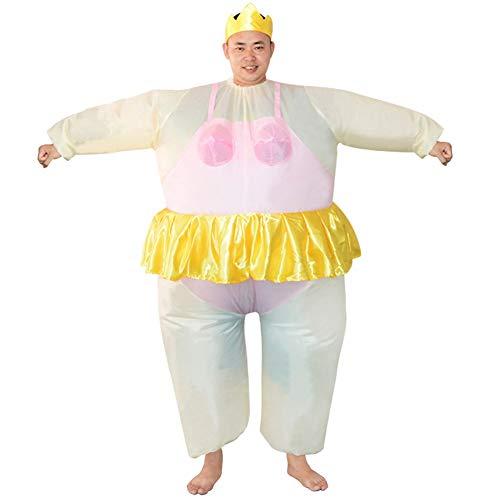 WANGIRL Aufblasbarer Anzug Aufblasbares Kostüm Fatsuit Ballerina Fasching Karneval Cosplay Fancy Dress Party Outfit Park Neuheit Spielzeug für Erwachsene Kleider (Color : Pink)