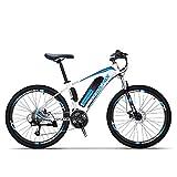 Adulto Bicicleta eléctrica de montaña, Bicicletas 250W Nieve, extraíble 36V 10AH batería de Litio de 27 de Velocidad de Bicicleta eléctrica, 26 Pulgadas Ruedas,Azul