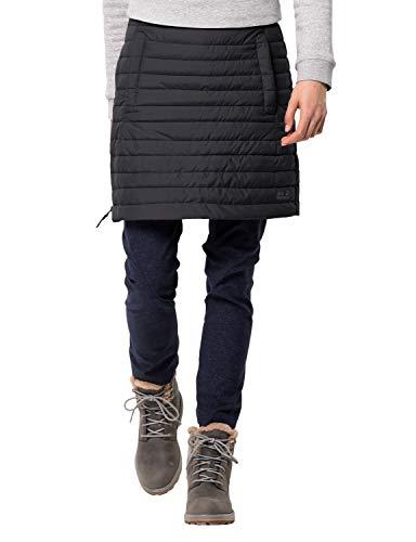 Jack Wolfskin Damen ICEGUARD Skirt Winterrock Wind-und wasserabweisend Rock, schwarz, XL