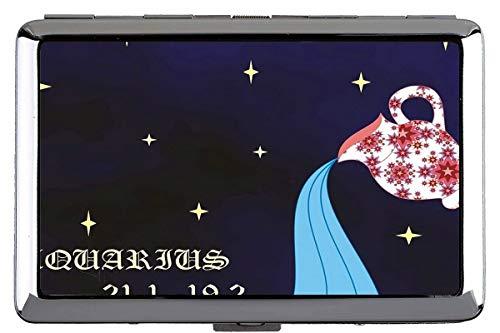 Estuche de Caja de Cigarrillos, Zodiac Signature Aquarius