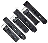 Kautschuk Uhrenarmband Schwarz passt Casio Seiko Citizen 20-24mm Armband Uhrband 20mm