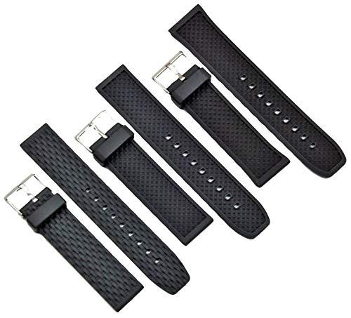 Kautschuk Uhrenarmband Schwarz passt Casio Seiko Citizen 20-24mm Armband Uhrband 22mm