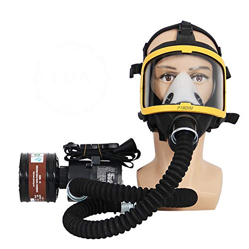 ZYC Cubierta Facial Completa Reutilizable Cubierta Integral eléctrica con Gafas de Seguridad, Cubierta Facial de Pintura para Pintar, pulir a máquina, soldar y Otra protección Laboral