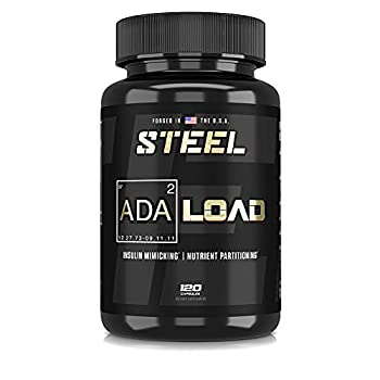 Steel Supplements ADA-Load | Carb Blocker Pills for Weight & Blood Sugar Management and Muscle Pumps | Advanced Nutrient Partitioning Supplement for Men and Women 120 Capsules