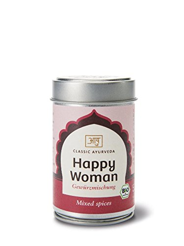 Classic Ayurveda - Bio Happy Woman Gewürzmischung in Aromaschutzdose, 1er Pack (1 x 50g) - BIO