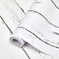 SUNBABY 木製壁紙 はがして貼るだけの壁紙 自己粘着 はがせる壁紙 白い壁の装飾 ホームリファービッシュ装飾用 (17.71インチ x 118.11インチ)