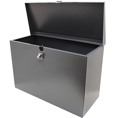 Hardcastle – Abschließbare Paketbox aus Metall – Groß – Grau - 3