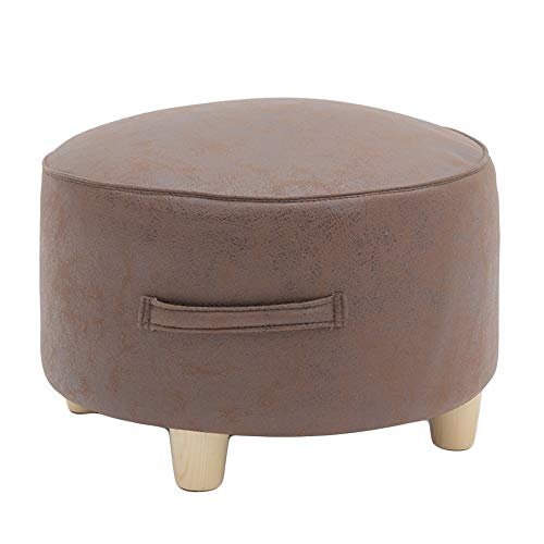 77SRF Pouf E Poggiapiedi Soggiorno Tavolino Sgabelli Impermeabile Facile Da Pulire Resistente Protezione Ambientale, 4 Colori SRF (Colore: Marrone, Dimensioni: 40X25CM)