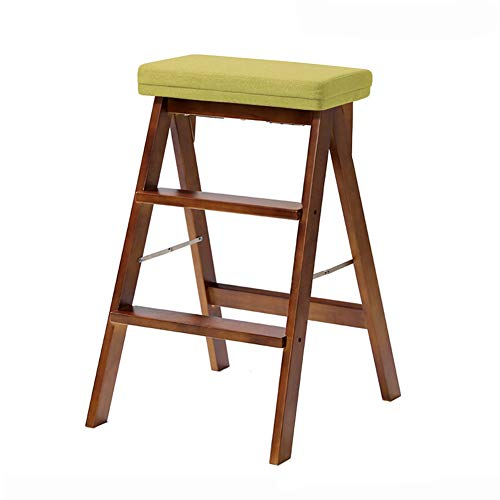 Price comparison product image Solid Wood Folding Step Stool Household Simple Chairs Modern Mini Ladder Stool Portable Footstool for Children Adult (Color : Style 6)