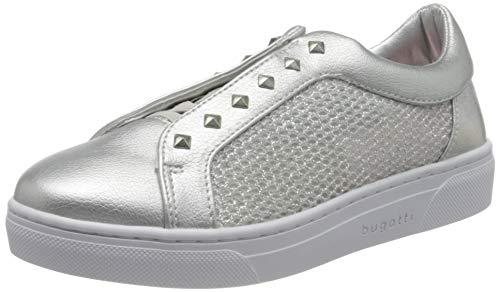 bugatti 431877605069, Zapatillas Mujer, Plata Metalizada 1390, 38 EU