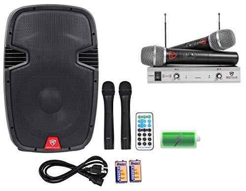 "Rockville 12"" Portable YouTube Karaoke Machine/System w/ 4 Mics See Description!"