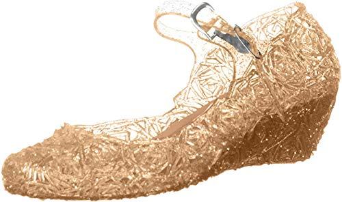 GenialES Sandale Ballerines pour Enfant Petite Fille Déguisement Princesse Chaussures - Or - 29 EU (Fabricant : 31)