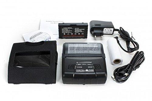 DIGITALRISE Tragbarer Bluetooth Thermodrucker V2! für 80mm Rolle inkl. Gürteltasche! (Bondrucker POS Drucker Wireless Kassendrucker Drucker Thermo Quittungsdrucker Thermal Dot Receipt Printer)