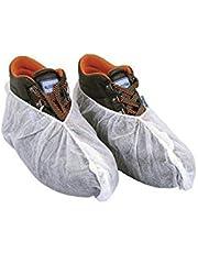 Cubrezapatos Desechables Transpirables Fabricado en España. Cubre Zapatos Hipoalergénicos. Fundas Protector de plástico para Zapato Ajustable.Sin Olor. NO Tejido 100% Reciclable.
