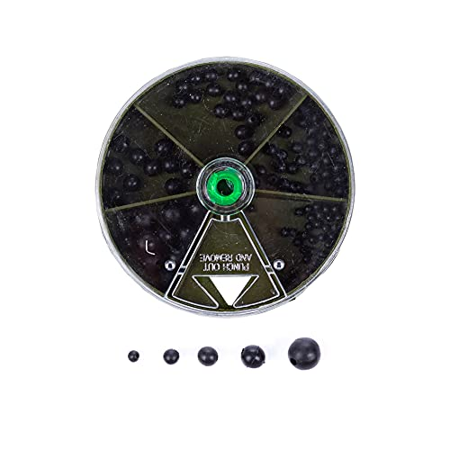 Zite Fishing Gummi-Perlen Angeln Sortiment - 100 Stück Stopper-Perlen Set - Schnur-Stopper Gummi-Stopper 2-8mm