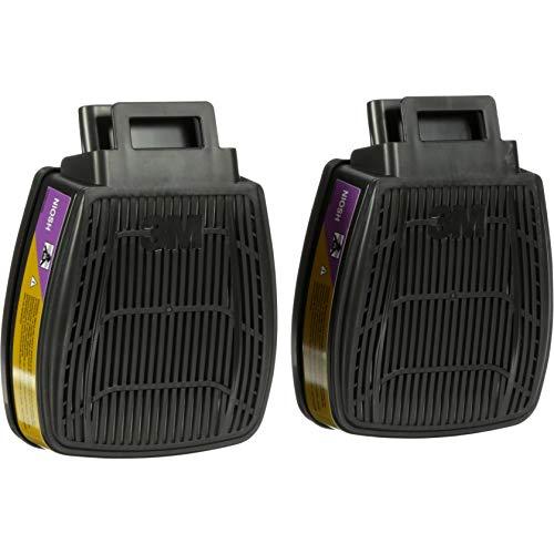 3M P100 Respirator Cartridge Filter, Secure Click D80926, Multi-Gas/Vapor, for 3M Secure Click Half Face Reusable Respirator HF-800 Series, 1 Pair
