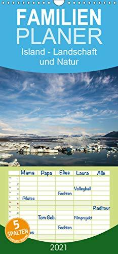 Island - Landschaft und Natur - Familienplaner hoch (Wandkalender 2021, 21 cm x 45 cm, hoch)