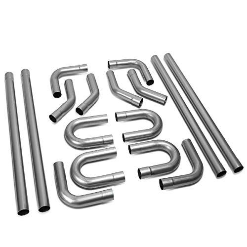 "2"" Custom Exhaust Kit 16PCS Mild Steel Tubing Mandrel Bend Pipe Straight & U-Bend Universal 2'' Inch OD"