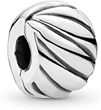 PANDORA Feathered Clip Charm, Sterling Silver, One Size