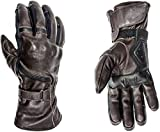 HELSTONS Titanium, guanti invernali da moto in pelle, marrone, T12