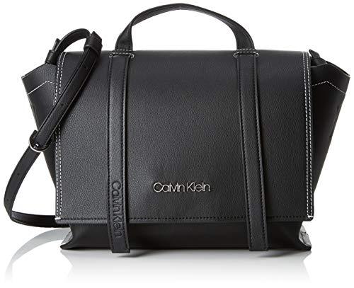 Calvin Klein - Slide Top Handle, Bolso de mano Mujer, Negro (Black), 12.5x30x41 cm (B x H T)