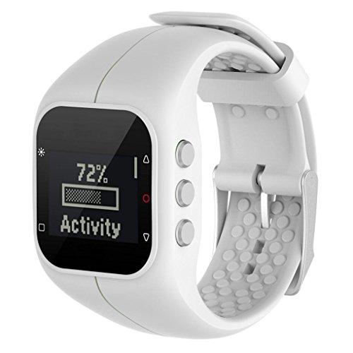 SHOBDW Ersatz Soft Silikon Gummi Uhrenarmband Handschlaufe für Polar A300 Fitness Uhr (weiß, 235MM)
