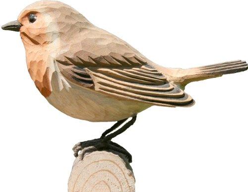 Wildlife Garden Dekovogel Holzvogel - Rotkehlchen - Handgeschnitzt