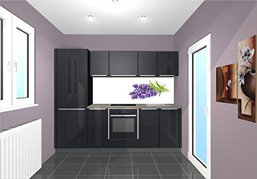 Küchenrückwand / Nischenverkleidung / Fliesenspiegel perfekt für die individuelle Küche - 180x55cm (BxH) Motiv: Lavendel