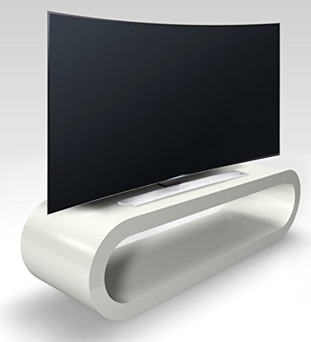 Zespoke Cerceau de Style Rétro Grande Gris Clair Brillant Meuble TV/Armoire 110cm