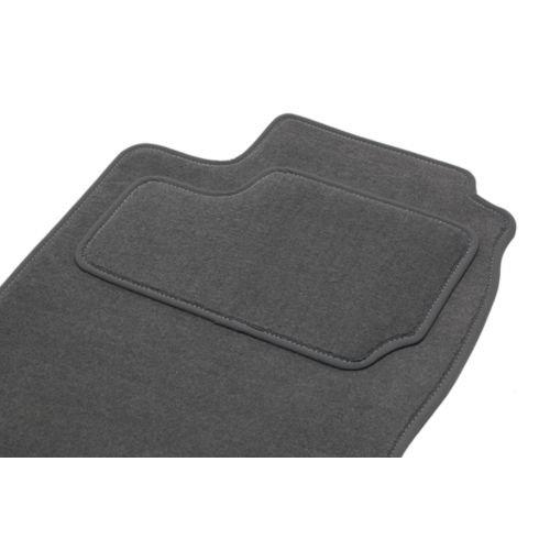 Fußmatten-Set, ETILE für 307 SW 5/7 Platten (03.02-06.05) – 1 Kofferraumwanne – grau – Teppich Tuft, l Optik samtig – 550g/m2 + ss Schicht 1950g/m2 + Textil-Ganse