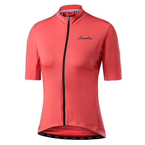 Santic Women's Cycling Jersey Short Sleeve Casual...