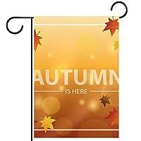 ガーデンヤードフラッグ両面 /28x40in/ ポリエステルウェルカムハウス旗バナー,こんにちは秋