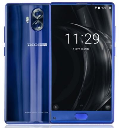 DOOGEE Mix Lite - 5.2 Zoll Bezel-Less HD-Display Android 7.0 4G Smartphone, Quad-Core 1.45GHz 2GB + 16GB, Dreifach-Kameras (8MP + 13MP + 13MP) - Blau