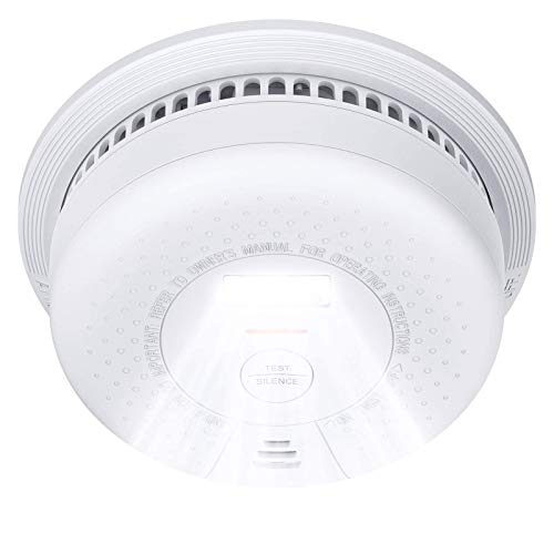 X-Sense Smoke Alarm with Escape Light, SD01 10-Year Battery (Not Hardwired) Fire Smoke Alarm, Compliant with UL 217 Standard