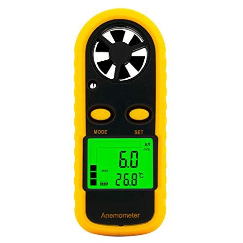 Anemometro digitale 0-30 m/s, misuratore di velocità del vento, misuratore di temperatura, anemometro con display LCD retroilluminato, utilità da util