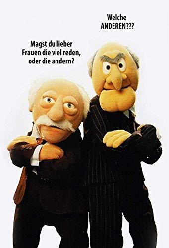 Waldorf and Statler Muppet Show Welche Anderen ? Blechschild Metallschild Schild gewölbt Metal Tin Sign 20 x 30 cm