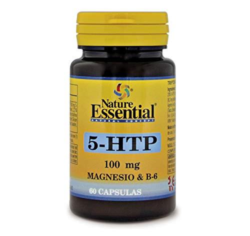 NATURE ESSENTIAL | Triptófano (5-htp 100 mg |) 60 Cápsulas con Magnesio y Vitamina B-6