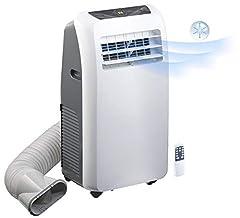 Sichler hushållsapparater Mobila luftkonditioneringsapparater: Mobil Monoblock luftkonditionering med avfuktare, 7.000 BTU / h, 2.050 Watt (Monoblock Klimat)