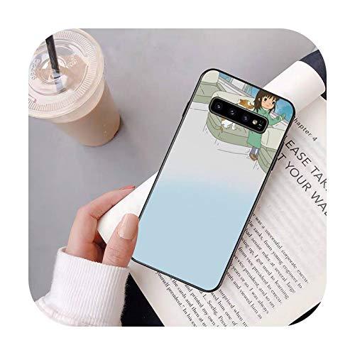 Cuty-girl Little fresh girl comics teléfono caso para Samsung S20 Ultra S10 S10e S8 S9 Plus S7 borde nota 10 9 8 negro suave TPU case-a3-para S9