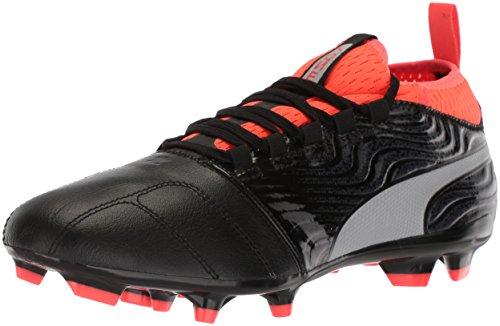 Price comparison product image PUMA Men's One 18.3 FG Soccer-Shoes,  Puma Black-Puma Silver-Red Blast,  9 M US