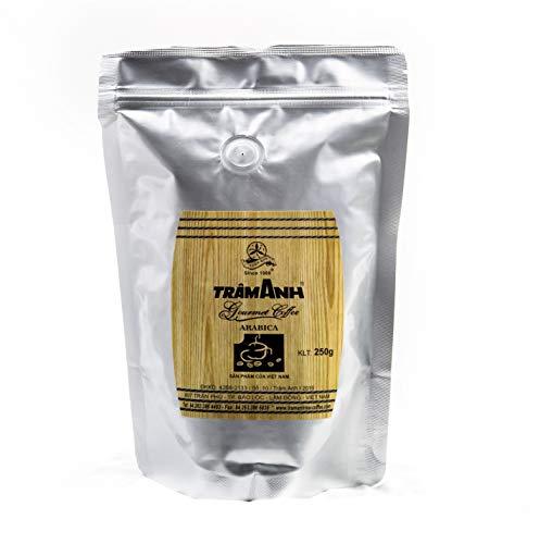 Trâm Anh Gourmet Coffee - Ganze Kaffeebohnen - Geröstet in französischer Butter und Cognac - Edles schokoladiges Aroma - 250g