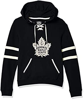 OTS NHL Toronto Maple Leafs Women s Grant Lace Up Pullover Hoodie Logo Large