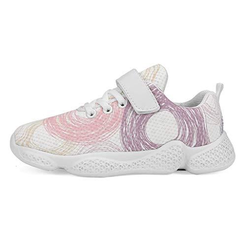 YxueSond Geometrische Muster - Zapatillas deportivas ligeras para correr o caminar, Infantil, blanco, 31