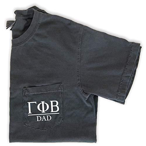 Gamma Phi Beta Dad Shirt | Sorority Comfort Colors Pocket Tee (XXL) Grey