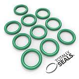 Totally Seals® 30 mm x 3 mm (36 mm OD) Green FKM (Viton™) juntas tóricas métricas, dureza de 75 A, paquete de 10