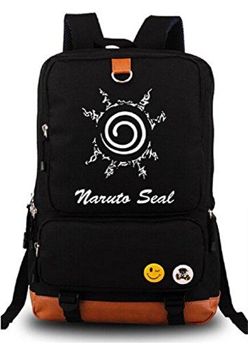 Siawasey Anime Naruto Cosplay Luminoso Mochila Librero Portátil Bolsa Escuela
