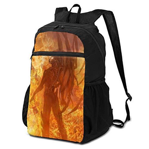 Jiadourun Starcraft Aufbewahrungspaket, faltbarer Rucksack, leicht, Mehrzweck-Rucksack, handlich, faltbar, Outdoor-Rucksack für Männer und Frauen