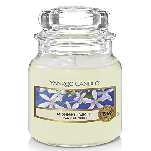 Yankee Candle Duftkerze im Glas (klein)   Midnight Jasmine   Brenndauer bis zu 30 Stunden