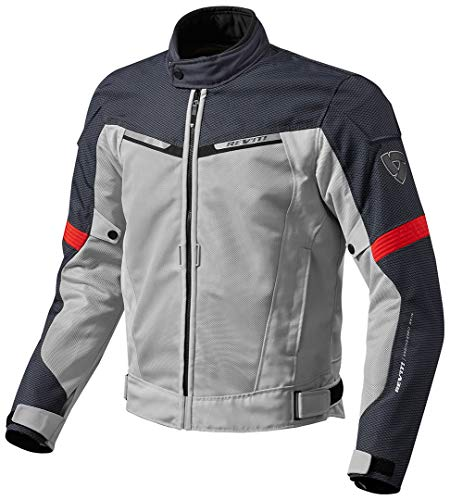 FJT201 - 4020-S - Rev It Airwave 2 Motorcycle Jacket S Silver Red