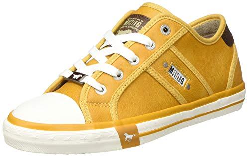 MUSTANG Damen 1209-301 Sneaker, 6 gelb, 39 EU